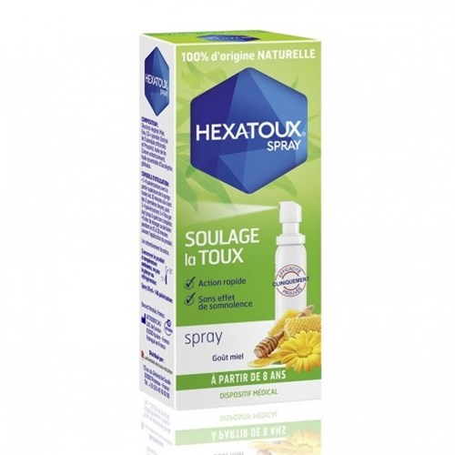 HEXATOUX Spray Goût miel 30 ml