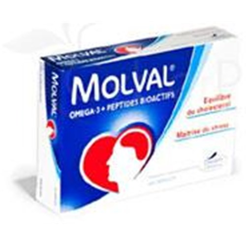 MOLVAL, capsule, food supplement rich in omega 3 and fish peptides. - Bt 60