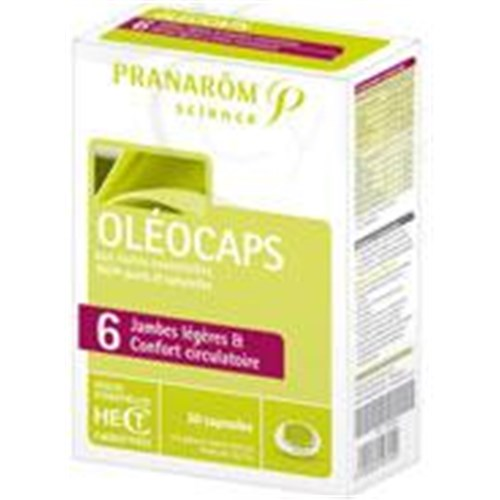 OLÉOCAPS 6 LIGHT LEGS AND COMFORT CIRCULATION, capsule, food supplement with essential oils. - Bt 30