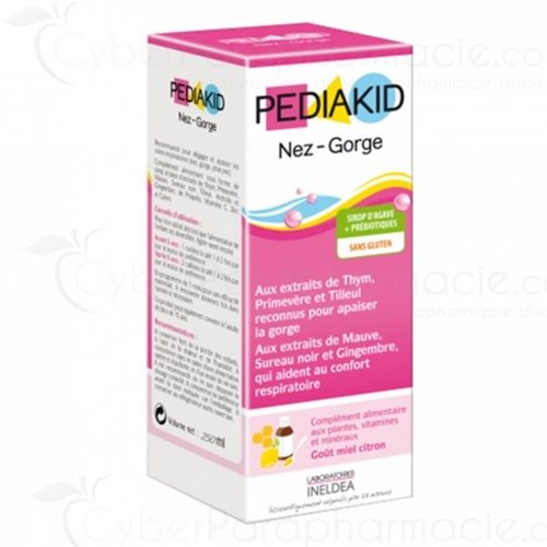 PEDIAKID SIROP NEZ-GORGE MIEL CITRON 250ML
