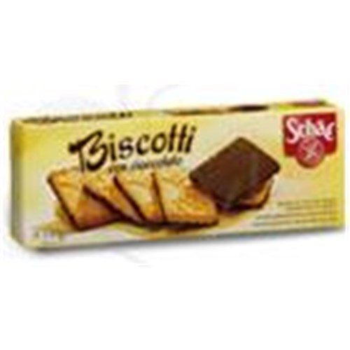SCHÄR BISCOTTI CON CIOCCOLATO Biscuit topped with chocolate, dietary food without gluten. - Bt 12