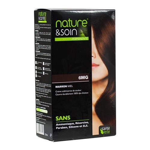 NATURE & SOIN coloration 6MG marron miel