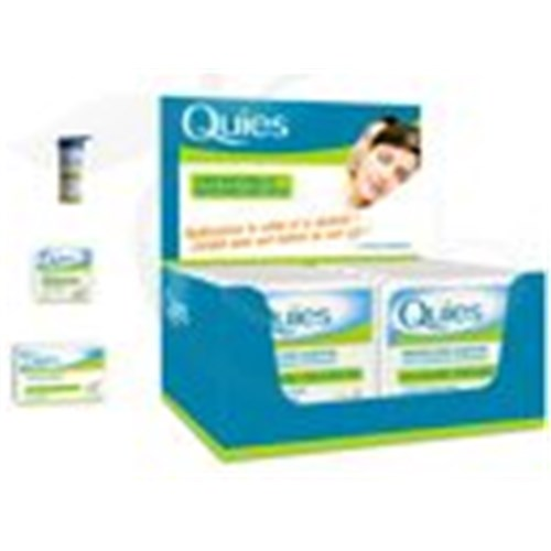 QUIES CIRE NATURELLE, Bouchon auriculaire antibruit. - tube 2 paires